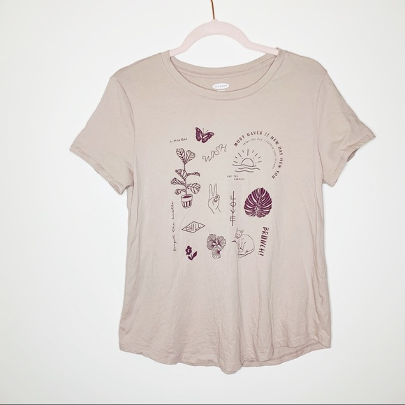 Old Navy Tops - Old Navy Everywhere Tee • Butterfly Floral Detail